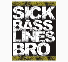 Sick Basslines Bro Sticker (gold) by DropBass