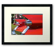 Cadillac Fleetwood Tailfins.  Framed Print