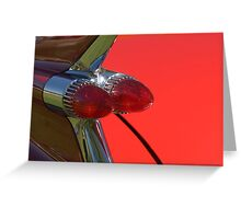 Cadillac Fleetwood Tailfins.  Greeting Card