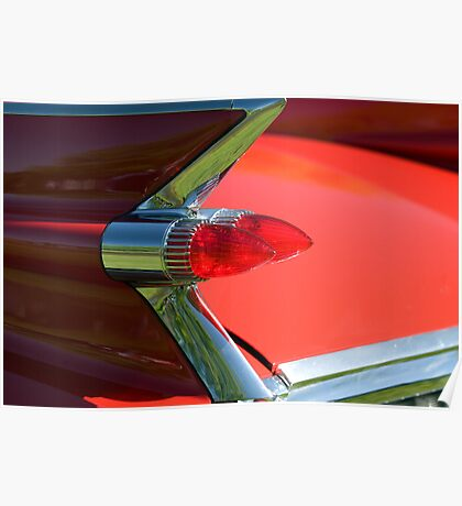 Cadillac Fleetwood Tailfins.  Poster