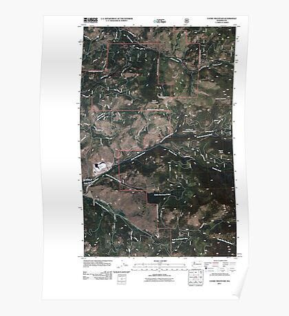 USGS Topo Map Washington State WA Cooke Mountain 20110505 TM Poster