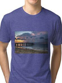 Lightnings during the sunrise Tri-blend T-Shirt