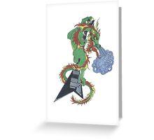 Road Rage Dragon Greeting Card