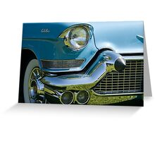 Front end of classic car. Greeting Card