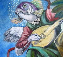 Fish With Lute by Ellen Marcus