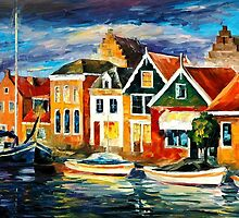OLD SEA-FRONT - OIL PAINTING BY LEONID AFREMOV by Leonid  Afremov