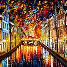 AMSTERDAM - OIL PAINTING BY LEONID AFREMOV by Leonid  Afremov
