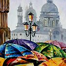 RAINY DAY IN VENICE - OIL PAINTING BY LEONID AFREMOV by Leonid  Afremov