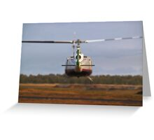Huey Helicopter Departing Greeting Card