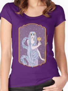 Tarot The Hermit Women's Fitted Scoop T-Shirt