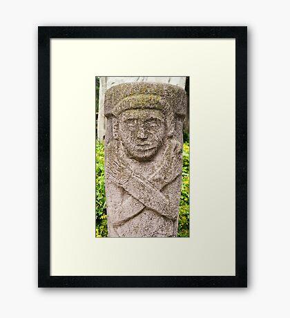 Mayan God Framed Print