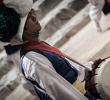 Traditional Drummer by Camera.Music.Action .