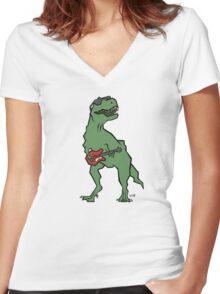 T-Rocks Women's Fitted V-Neck T-Shirt