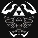 Hylian Shield - Legend of Zelda [black] by TheInternet