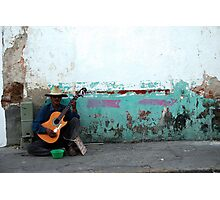 Busker - Late Afternoon - Puerto Vallarta Photographic Print