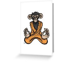 Zen Monkey Greeting Card