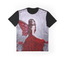 Winter Rose Butterfly Fairy Graphic T-Shirt