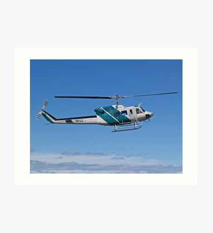Bell 212 Twin  Helicopter Art Print