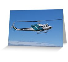 Bell 212 Twin  Helicopter Greeting Card