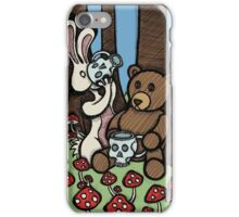 Teddy Bear and Bunny - The Mushroom Forest iPhone Case/Skin
