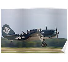 Curtis SBSC Helldiver Poster