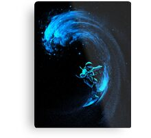 Space Surfing Metal Print