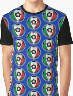 Italy - Italian Flag - Football or Soccer Graphic T-Shirt