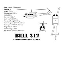 Bell 212 Twin Huey Helicopter Photographic Print