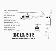 Bell 212 Twin Huey Helicopter Kids Tee