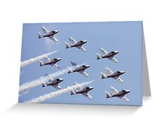 Canadian Armed Forces Snowbirds Greeting Card