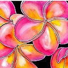 Summer Escape ~ Candied Frangipanis  by Diane McWhirter