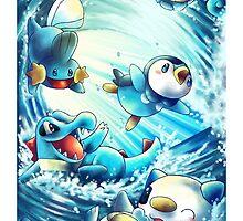pokemon water starters phone case by michelledraws