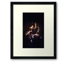Fire At the Cabin (Dedicate to Laurie) Framed Print