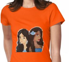 Sapphire and Faded Jeans Womens Fitted T-Shirt