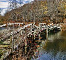 Troubled Bridge Over Still Waters Sticker