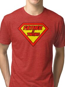 Superdad father of twins Tri-blend T-Shirt