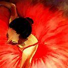 La Ballerine Rouge dans le Theatre  by Rusty  Gladdish