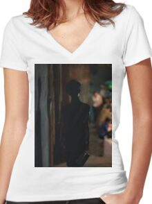 in the mood for love 1 Women's Fitted V-Neck T-Shirt