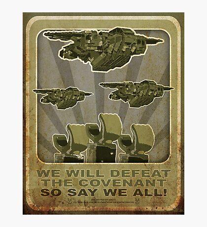 Halo Propaganda  Photographic Print