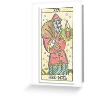 Father Christmas (Tarot Card 25) Greeting Card