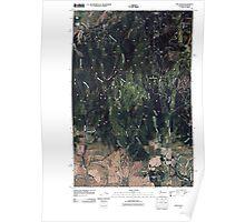 USGS Topo Map Washington State WA Mica Peak 20110401 TM Poster