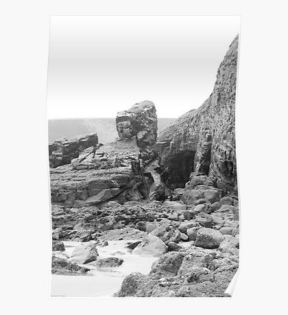 Rocks at Newgale Sands Poster