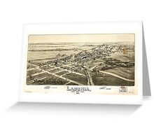 Panoramic Maps Ladonia Fannin County Texas Greeting Card