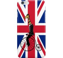 Penny-farthing Giraffe (London Version) iPhone Case/Skin