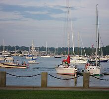 Boats at Fort Adams State Park, Newport, RI by Quigley4Par