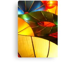 Colorful Vertical Abstract of Blue Green Yellow and Orange Canvas Print