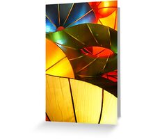 Colorful Vertical Abstract of Blue Green Yellow and Orange Greeting Card