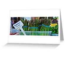 Asparagus - $2.49 lb Greeting Card