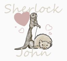 Otter!sherlock and Hedghog!John by OhSoVintage12