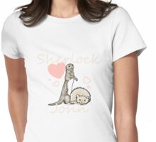 Otter!sherlock and Hedghog!John Womens Fitted T-Shirt